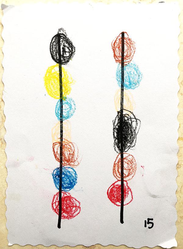 小班幼儿美工作品《好吃的糖葫芦》