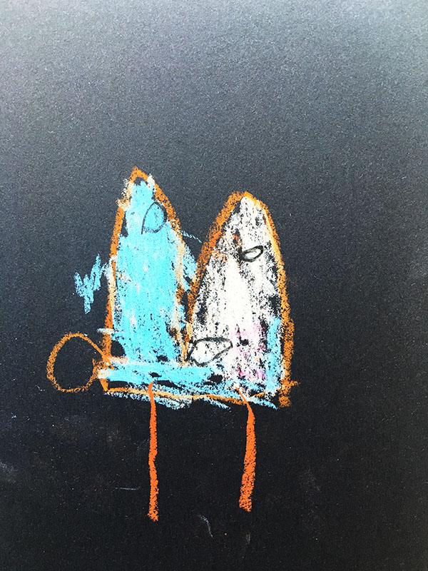 小班幼儿作品《可爱的小白兔》